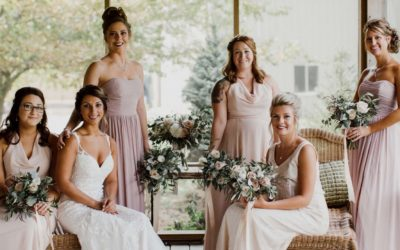 Bridesmaids With Flowers